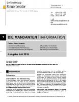 Mandanten-Information Juli 2015