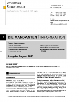 Mandanten-Information August 2015
