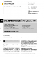 Mandanten-Information Oktober 2015