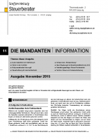 Mandanten-Information November 2015