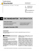 Mandanten-Information Dezember 2015