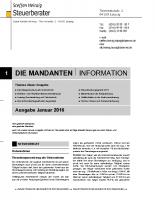 Mandanten-Information Januar 2016