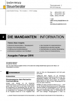 Mandanten-Information Februar 2016