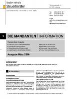 Mandanten-Information März 2016