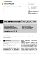 Mandanten-Information April 2016