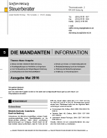 Mandanten-Information Mai 2016