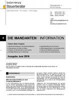 Mandanten-Information Juni 2016