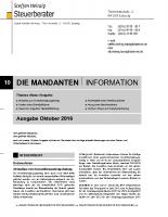 Mandanten-Information Oktober 2016