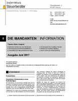 Mandanten-Information Juni 2017