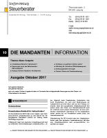 Mandanten-Information Oktober 2017