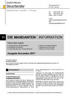 Mandanten-Information November 2017