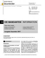 Mandanten-Information Dezember 2017