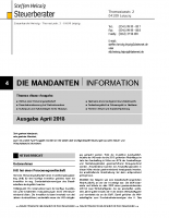 Mandanten-Information April 2018