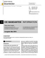 Mandanten-Information Mai 2018