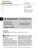 Mandanten-Information Juni 2018