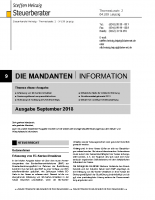 Mandanten-Information September 2018