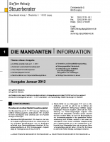 Mandanten-Information Januar 2012