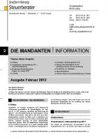 Mandanten-Information Februar 2012