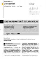 Mandanteninfo Februar 2013