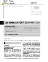 Mandanten-Information März 2012