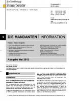 Mandanten-Information Mai 2012