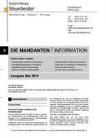 Mandanten-Information Mai 2014