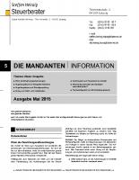 Mandanten-Information Mai 2015