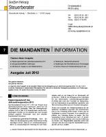 Mandanten-Information Juli 2012