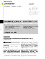 Mandanten-Information Juli 2014
