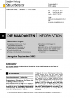 Mandanten-Information September 2012