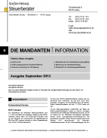 Mandanten-Information September 2013