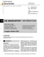 Mandanten-Information Oktober 2014