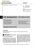 Mandanten-Information November 2012