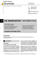 Mandanten-Information  November 2014