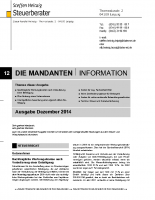 Mandanten-Information Dezember 2014