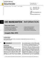 Mandanten-Information März 2015