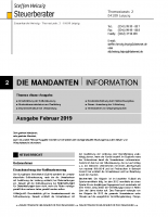 Mandanten-Information Februar 2019