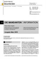 Mandanten-Information März 2019
