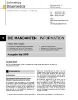 Mandanten-Information Mai 2019