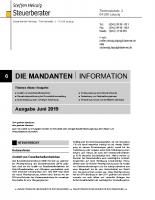 Mandanten-Information Juni 2019