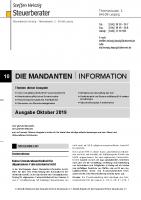 Mandanten-Information Oktober 2019