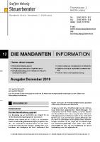 Mandanten-Information Dezember 2019