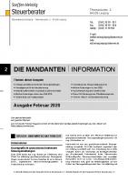 Mandanten-Information Februar 2020