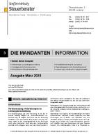 Mandanten-Information März 2020