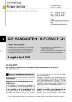 Mandanten-Information April 2020