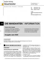 Mandanten-Information Juni 2020