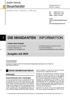Mandanten-Information Juli 2020