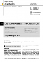 Mandanten-Information August 2020