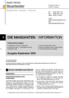 Mandanten-Information September 2020