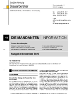 Mandanten-Information November 2020